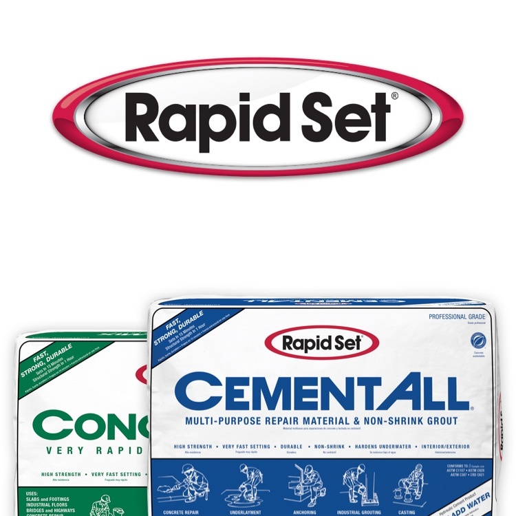 Rapid Set concrete and cement products