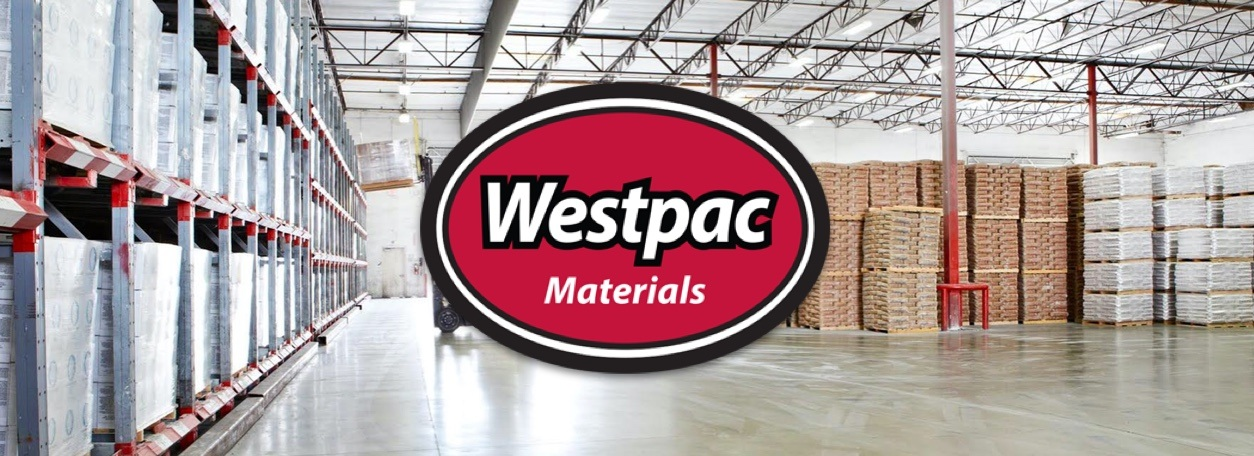 Westpac Materials logo with Westpac Materials in background