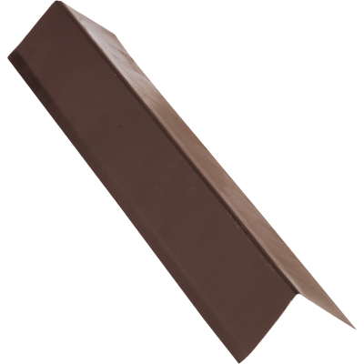 NorWesco A 1-1/2 In. X 1-1/2 In. Galvanized Steel Roof & Drip Edge Flashing, Brown