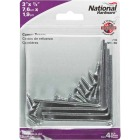 National Catalog V115 3 In. x 3/4 In. Zinc Steel Corner Brace (4-Count) Image 2
