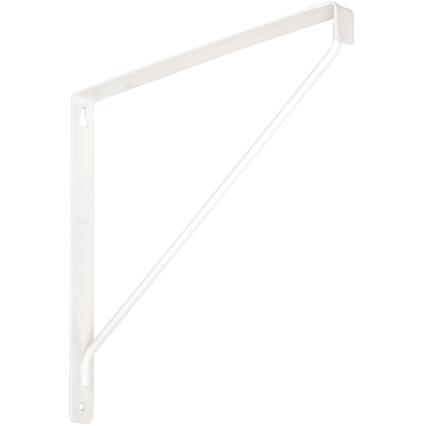National 207 10-3/8 In. D. x 7-1/32 In. H. White Steel Shelf Bracket Image 1
