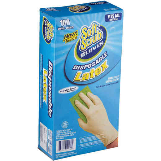 Soft Scrub 1 Size Fits All Latex Disposable Glove (100-Pack)