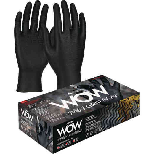 Safety Works Ambi-dex WOW Grip Large Nitrile Disposable Automotive Glove (100-Pack)